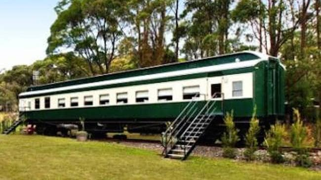 The carriage has been fully renovated and sleeps up to nine people. Picture: Stayz.