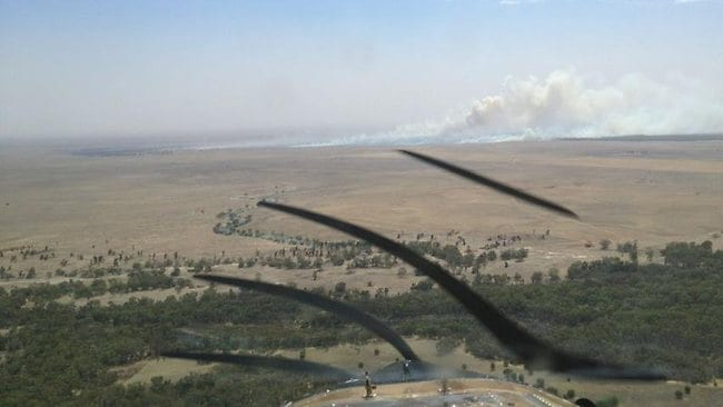 The NSWRFS also posted this Facebook image of a Grass fire 30km north east of Conargo that has so far burnt 1000ha and is moving towards the township of Jerilderie.