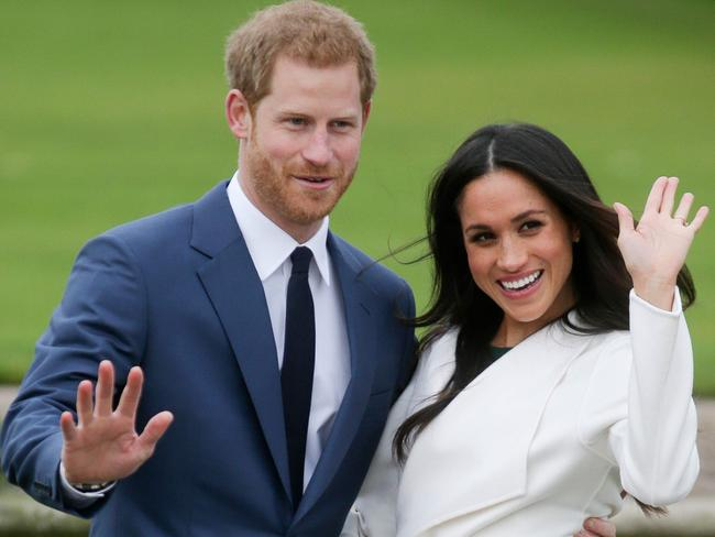Harry and Meghan will wed in May. Picture: AFP