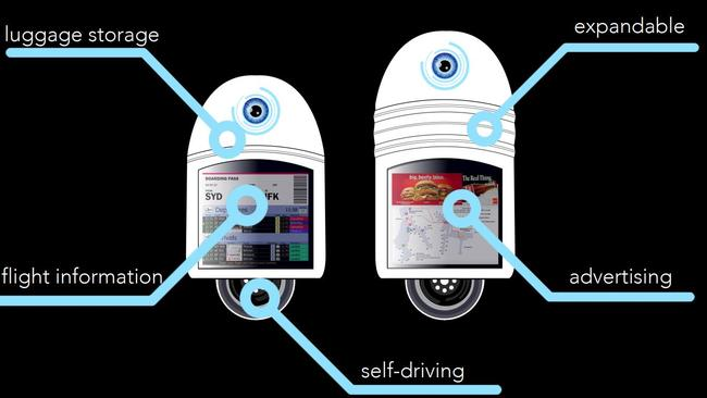 Key features of the IRIS modular vehicles, developed by UTS students.
