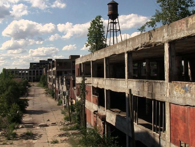 This autoroom was once an engine of Detroit's prosperity. Now it lies abandoned. Picture: Unplanned America