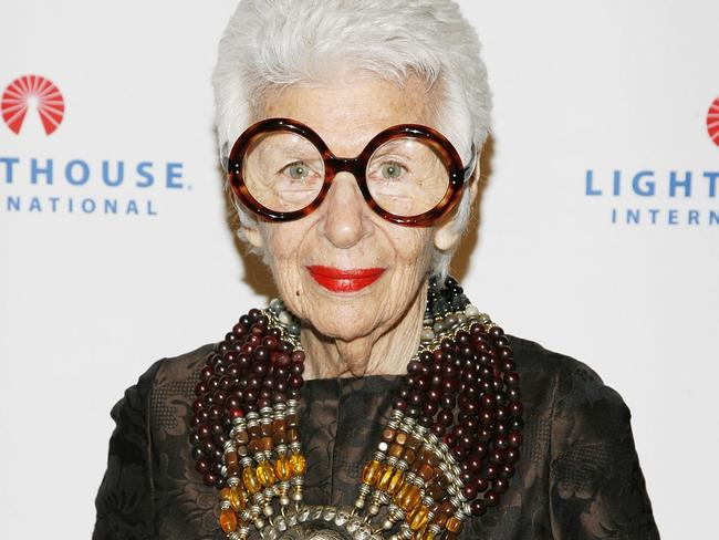Iris Apfel is a New York City fashion icon. Picture: Joe Kohen/Getty Images.