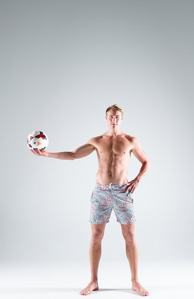 Central Coast Mariners joined with Surf Life Saving Central Coast to promote Boardies Day and Zac Anderson did his bit.
