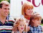<p>Prince Andrew and his ex-wife Sarah Ferguson, The Duke and Duchess of York with their daughters, Princesses Eugenie and Beatrice, in 1996. This was the first time Andrew and Sarah had appeared together after their decree absolute was finalised. Picture: Supplied</p>