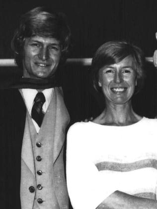 Dr Chris Davis with his mother, Berit, at his graduation from the University of Cape Town in 1977.