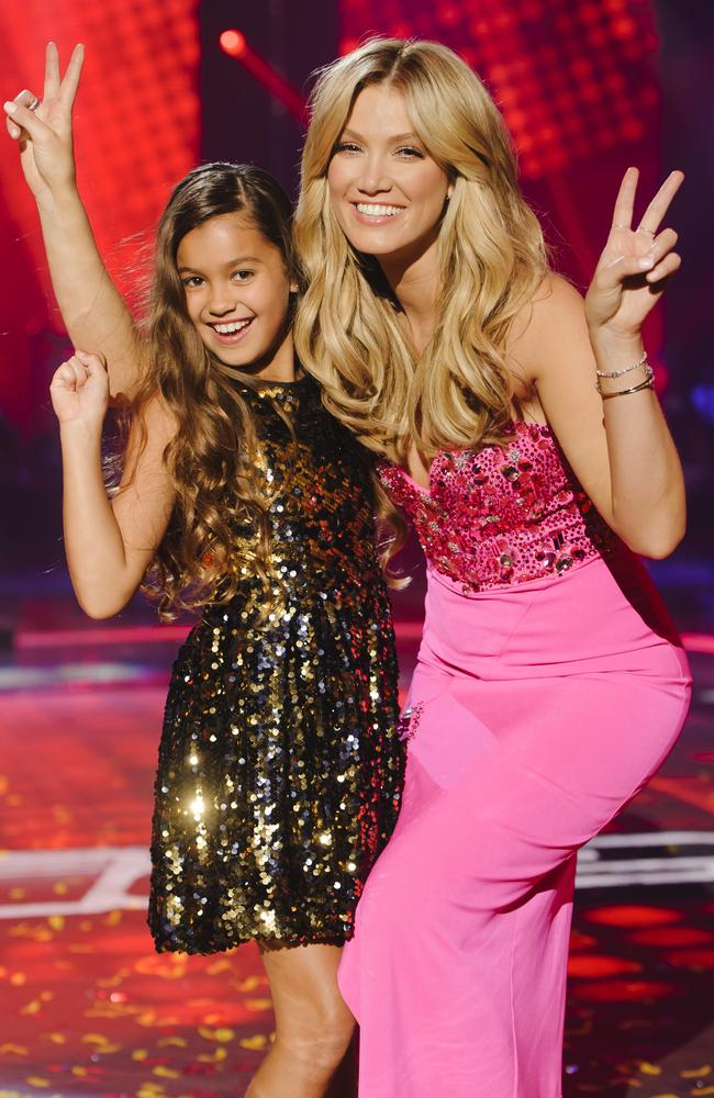 The Voice Kids Grand Finale ... Delta Goodrem with winner Alexa. Picture: Supplied