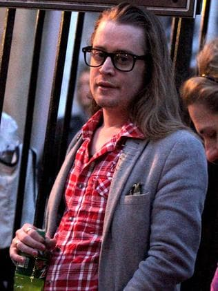 Culkin on set. Picture: Splash News Australia