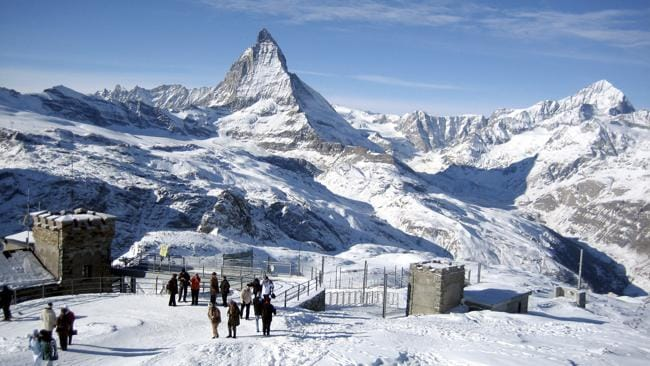 The Matterhorn in the Swiss Alps.