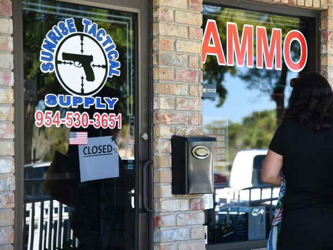 The Sunrise Tactical Supply store in Coral Springs where school shooter Nikolas Cruz bought his AR-15 to gun down students at Marjory Stoneman High School. Picture: AFP