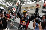 <p>Red Bull driver Mark Webber of Australia celebrates with champagne after winnining the Formula One Grand Prix, at the Monaco racetrack, in Monaco, Sunday, May 27, 2012. AP Photo</p>
