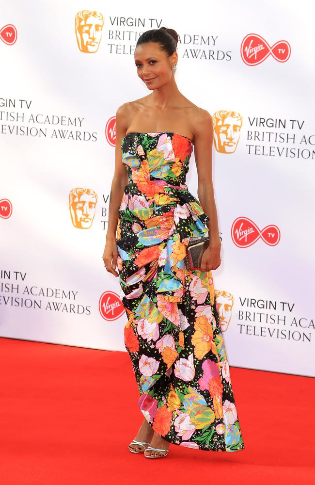 Thandie Newton's gown didn't quite hit any fashion heights. Picture: MEGA