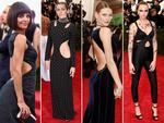 Cutout crazy ... Katie Holmes, Miley Cyrus, Behati Prinsloo and Cara Delevingne at the Met Gala 2015. Picture: Getty