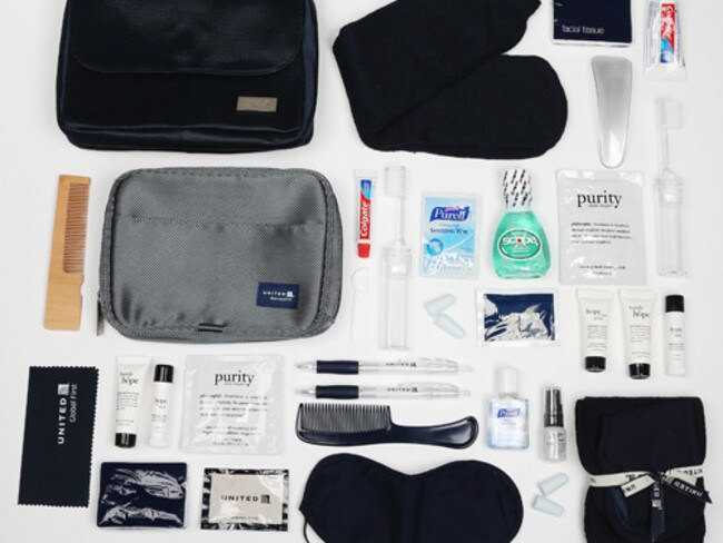 United's goodie bag. Picture: Cheapflights