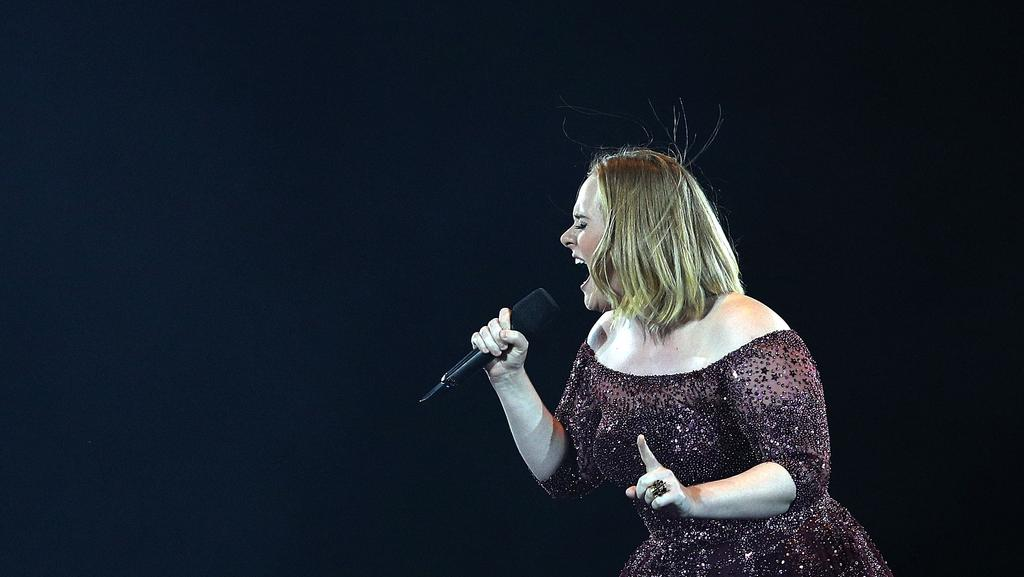 Adele performs at Etihad Stadium. Picture: Getty