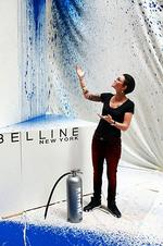 <p>Pictured in Angle Place where street artist KR with the help of Ruby Rose created a street installation for the launch of Maybelline NY in fashion week next week. Pictured Ruby Rose. Picture: Nic Gibson</p>