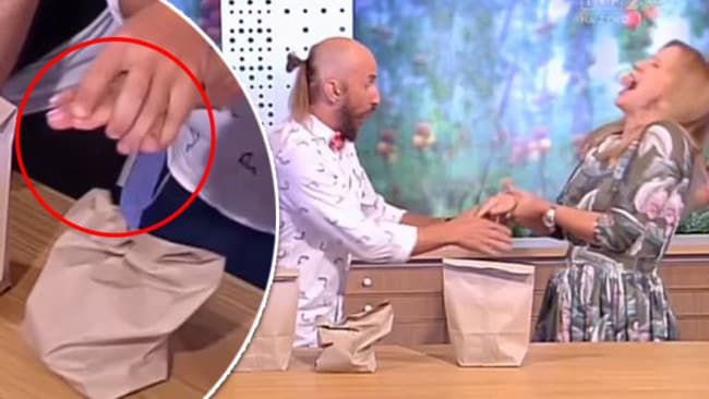 Polish TV presenter Marzena Rogalska injured when magic trick goes very wrong