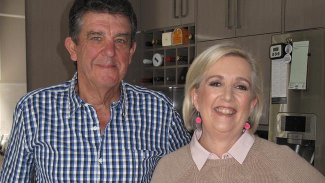Jane Caro at home with Ken.