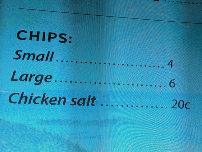 The photo uploaded to Facebook shows the cafe charging for salt.