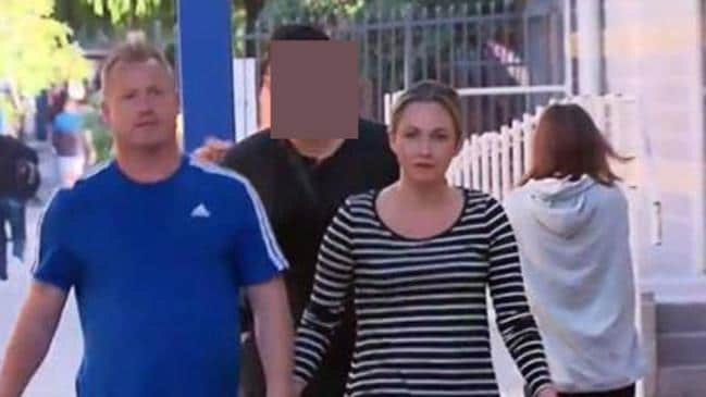 Karlie Tyrrell, arriving at court with her new man, has had a troubled past.