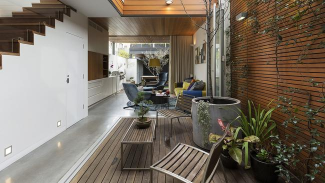 The property offered both an interior and exterior courtyard