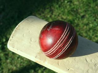Undated : Generic cricket bat and ball.