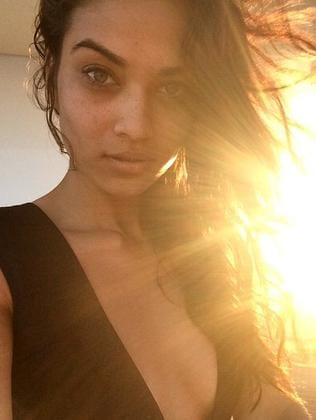 Shanina Shaik's Instagram selfie from the yacht. Picture: Instagram
