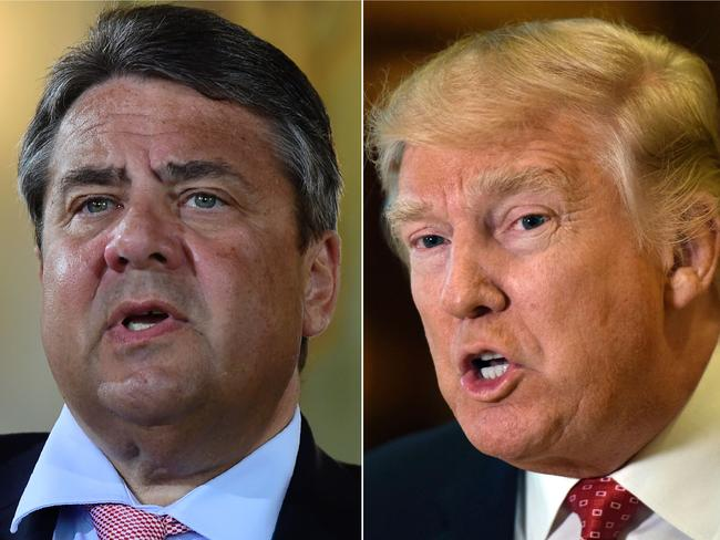 "German Foreign Minister Sigmar Gabriel said that Donald Trump's ""shortsighted"" policies hurt European interests and weaken the west. Picture: AFP"