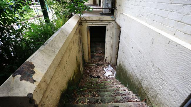 the stairs to the dungeonl - The old Parramatta Girls home, later known as Norma Parker detetion centre at Fleet Street Parramatta. Picture Craig Greenhill