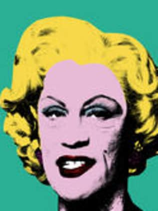 Andy Warhol's classic Green Marilyn taken in 1962 and in 2014 by Miller. Picture: Courtesy Sandro Miller