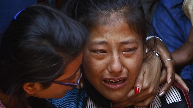 Heartbreaking ... hundreds of Nepalis gathered in Kathmandu to mourn the loss of Sherpa climbers killed in a deadly Everest avalanche. Picture: AP
