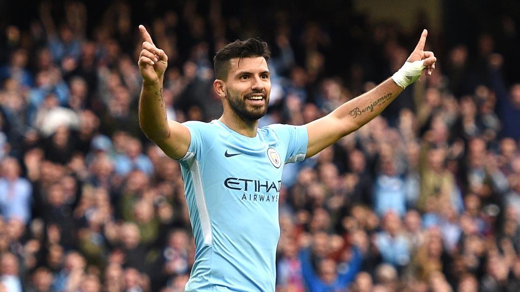 Manchester City's Argentinian striker Sergio Aguero.