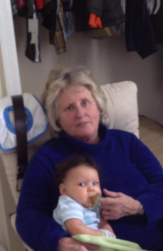 Killed by daughter's pet pit bull ... Cindy Whisman adored her grandson. Picture: The Whisman Family via WCPO