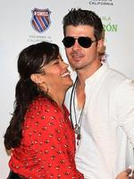 Paula Patton and singer Robin Thicke attend the K-Swiss U.S. Open Viewing Party at St. Giles Hotel on September 11, 2010 in New York City. Picture: Getty
