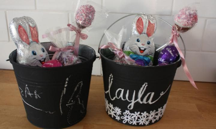 Easter egg hunt buckets