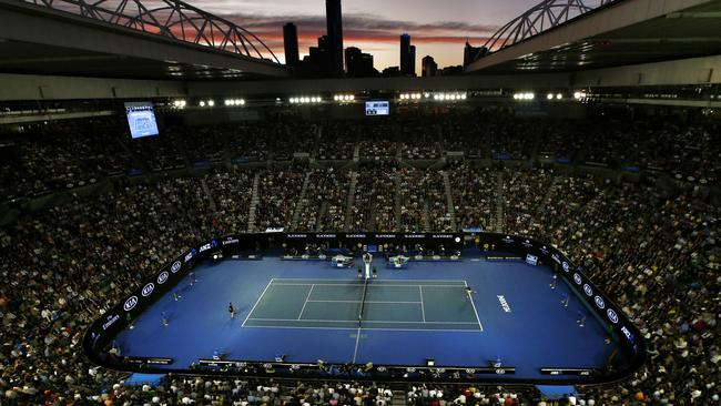 Rod Laver Arena is the mecca for Aussie tennis. We'll be there in the stands with you. Picture: Michael Klein