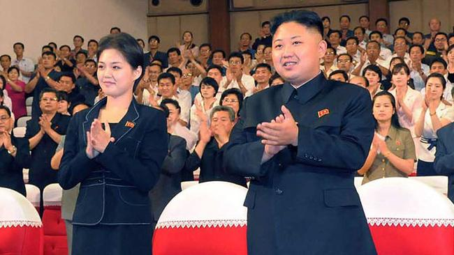 Ri Sol-ju was criticised for her up-market attire as North Korean woman were encouraged to copy her style but the majority of the country lives in poverty. Picture: KCNA/AFP
