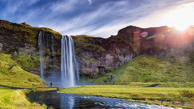 The stunning Seljalandsfoss Waterfall is on the main tourist road.