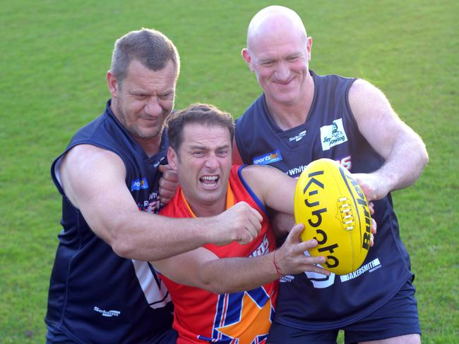 Damien Monkhorst and Mick Martyn put Stefanovic through his paces ahead of the game.