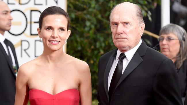 Date night ... Luciana and Robert Duvall. Picture: Getty Images