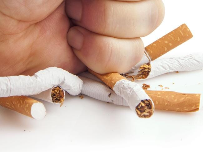 Smoking is down ... the number of Australians smoking cigarettes has plunged from 18.9 per cent in 2008 to 15.2 per cent.