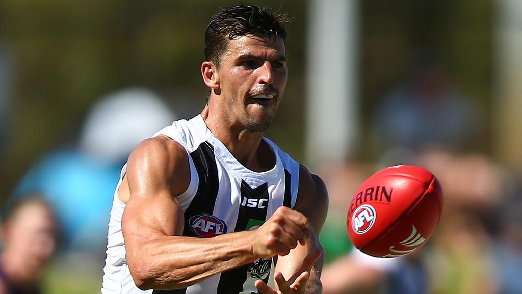 Scott Pendlebury in action for Collingwood.