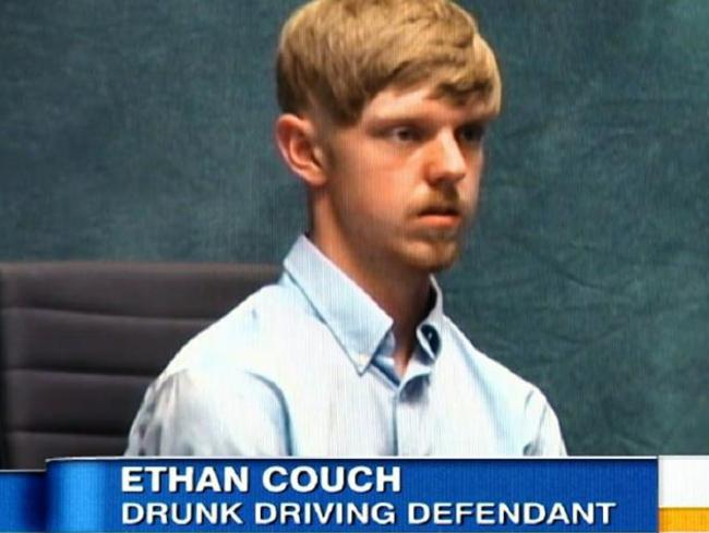Affluenza ... A judge decided Ethan Couch did not know what he was doing when he killed four people. Picture: ABC News