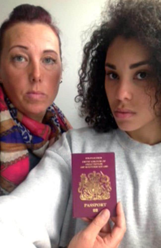 We're not sure how this passport bungle happened. Sally Nayler (left) with daughter Shelby.