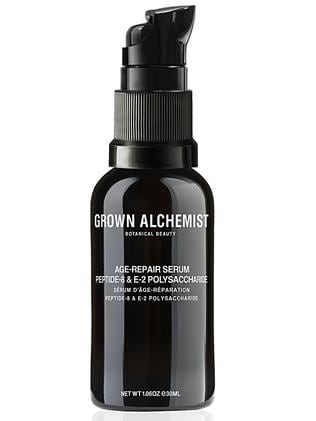 "Grown Alchemist Age-repair Serum, $94.95, Myer, David Jones and  <b><a href=""http://grown.com"">grown.com</a></b>"