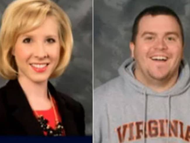 Slain ... Journalist Alison Parker and cameraman Adam Ward were shot dead on air during live broadcast at Bridgewater Plaza in Virginia. Picture: AP