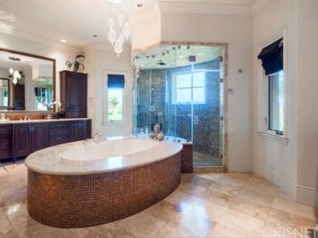The luxurious bathroom has plenty of space for Carey. Picture: Zillow.com.
