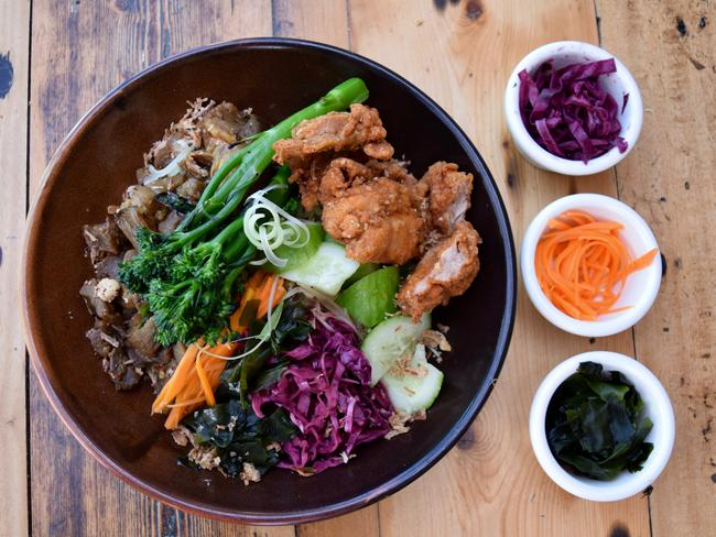 No one can go pass the karaage chicken poke bowl. Picture: Jenifer Jagielski