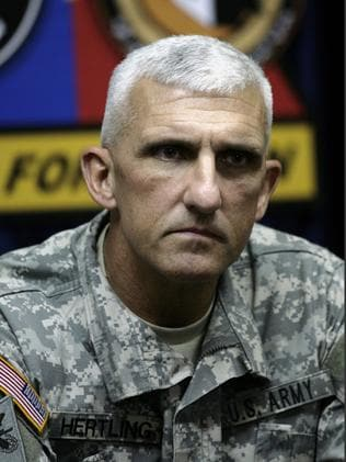 Shocked and awed ... A 2007 picture of then Maj. Gen. Mark P. Hertling. He has expressed his dismay at the failure of efforts to protect the Iraqi government.