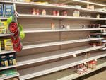 Empty shelves are seen as people make Hurricane Irma preparations at a Winn Dixie store in South Florida on September 6, 2017 in Hallandale, Florida. Picture: AFP PHOTO / Michele Eve Sandberg