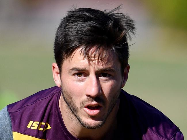 Ben Hunt during the Brisbane Broncos training session in Brisbane, Tuesday, August 15, 2017. The Broncos will play the Dragons in their round 24 NRL clash. (AAP Image/Darren England) NO ARCHIVING
